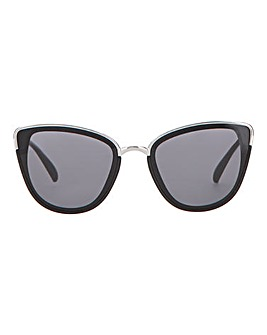 Petra Cat Eye Gold Detail Sunglasses