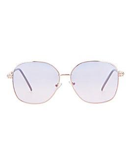 Bonnie Blue Lens Arm Detail Sunglasses