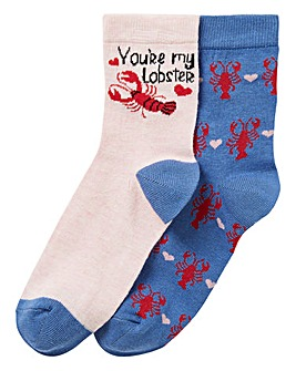 2 Pack Novelty Lobster Ankle Socks