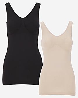 Naturally Close 2 Pack Black/Blush Comfort Vest
