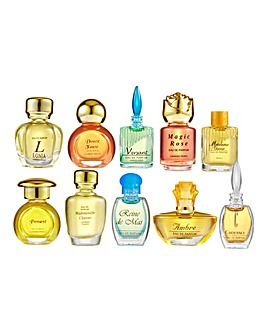 Set Of 10 Charrier Mini Fragrances In Gift Box