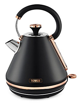 Tower Cavaletto 3kW 1.7Litre Pyramid Black and Rose Gold Kettle