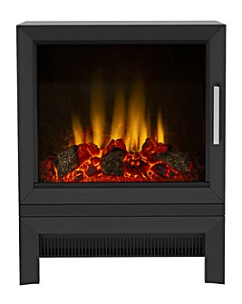 Be Modern Qube Electric Black Stove