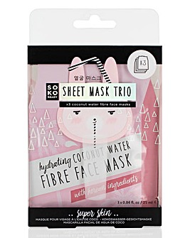 Soko Ready Coconut 3 Pack Mask