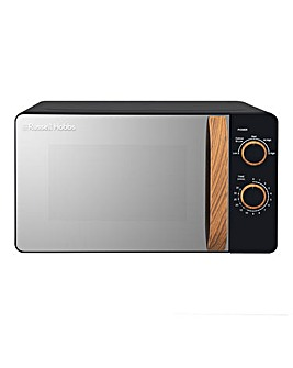 Russell Hobbs RHMM713B 17Litre Wooden Handle Manual Microwave - Black
