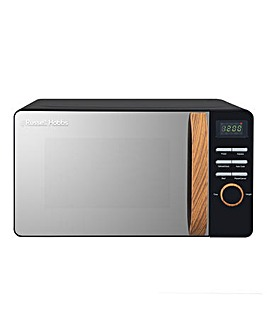 Russell Hobbs RHMD714B 17Litre Wooden Handle Digital Microwave - Black