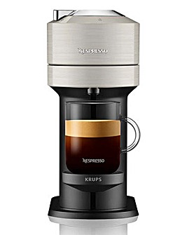 Nespresso XN910B40 Vertuo Next Light Grey Capsule Coffee Machine by Krups