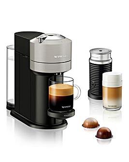 Nespresso XN911B40 Vertuo Next Grey Bundle Capsule Coffee Machine by Krups