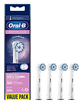Oral-B Sensiclean 4 Pack Toothbrush Heads