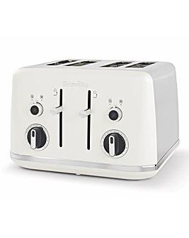 Breville VTT970 Lustra Matt White 4 Slice Toaster