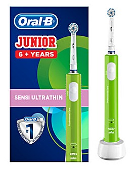 Oral B Junior Power Handle Green Electric Toothbrush