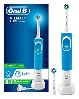 Oral B Vitality Cross Action Electric Toothbrush with 2 Brush Heads