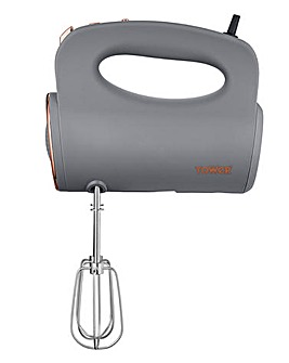 Tower Cavaletto 300W Grey and Rose Gold Hand Mixer