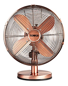 Tower 12 Copper Metal Desk Fan