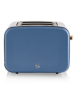 Swan Nordic Style 4 Slice Blue Toaster