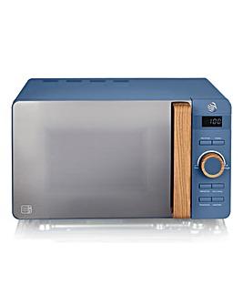 Swan SM22036BLUN 20Litre Nordic Style Blue Digital Microwave