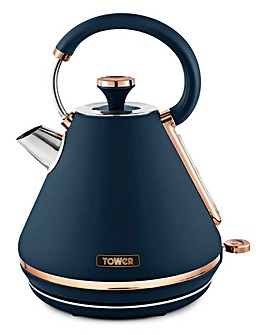 Tower Cavaletto 3kW 1.7Litre Prymaid Midnight Blue and Rose Gold Kettle