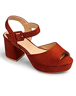 Lydia Block Heel Sandals Wide E Fit