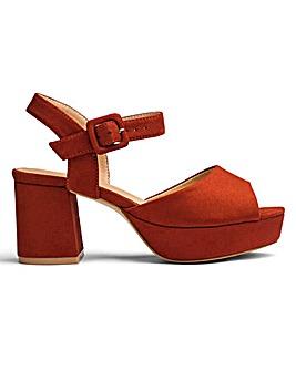 Lydia Block Heel Sandals Wide E Fit