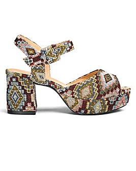 Lydia Block Heel Sandals E Fit