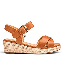 Sole Diva Wedge Espadrille Wide E Fit