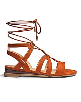 Maisy Ghillie Tie Wedge Wide E Fit