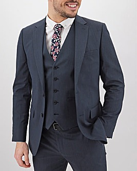 Navy Hank Tonic Suit Jacket Long