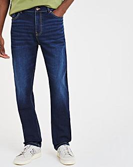 Indigo Wash Straight Leg Jeans