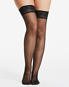 2 Pack 10 Denier Black Hold Ups