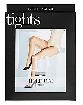 Naturally Close 2 Pack Natural 10 Denier Hold Ups