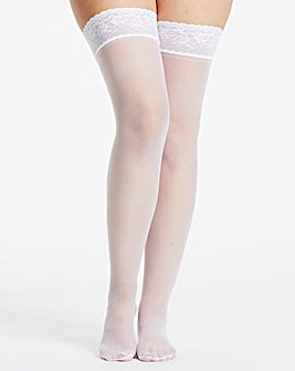 Naturally Close 2 Pack White 10 Denier Bridal Hold Ups