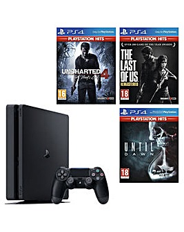 PS4 500GB Inc 3 Playstation Hits Games