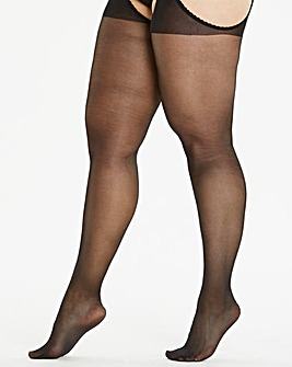Naturally Close Black 20 Denier Suspender Single Tights