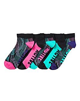 5 Pack Active Trainer Liner Socks