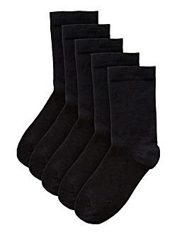 5 Pack Value Ankle Socks- Wide Fit