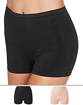MAGISCULPT 2 Pack High Waisted Black/Blush Medium Control Shorts