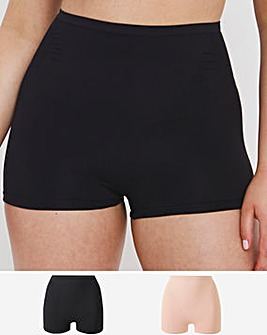 MAGISCULPT 2 Pack High Waisted Black/Blush Medium Control Shorts