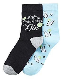 2 Pack Gin Socks
