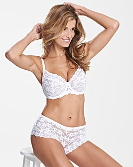 Daisy Lace Full Cup Wired White Bra