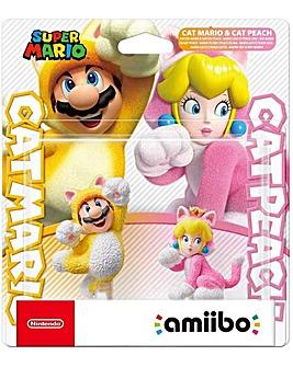 amiibo Cat Mario and Cat Peach Switch