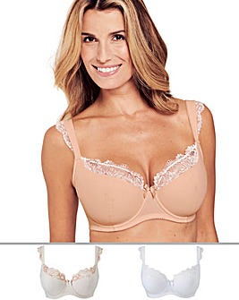 Pretty Secrets 2 Pack Ella Lace Cap Sleeve Balcony Blush/White Bras