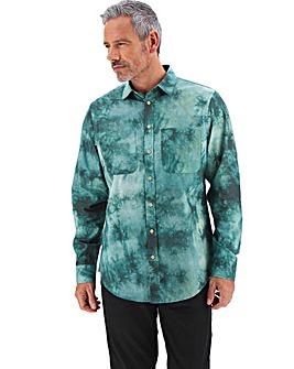 Green Tie Dye Long Sleeve Shirt Long