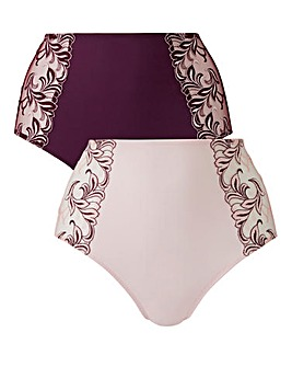 2Pack Flora Peach/Plum Briefs