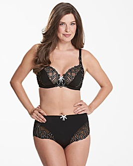 Pretty Secrets Amelie Black/White Embroidered Full Cup Wired Bra