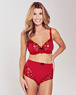 Amelie Emb Black/Red Full Cup Bra