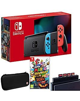 Switch Neon Inc Super Mario 3D World