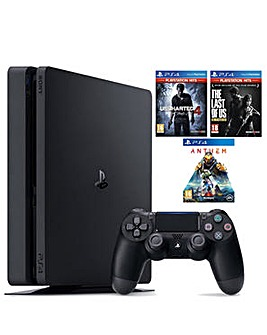 PS4 500GB inc 3 Games