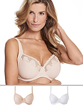Naturally Close Elana 2 Pack Blush/White Full Cup Bras