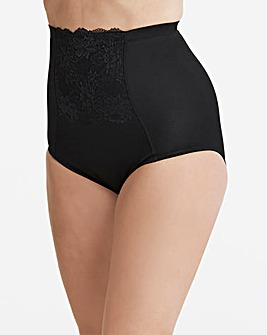 Ella Lace Firm Control Black Briefs