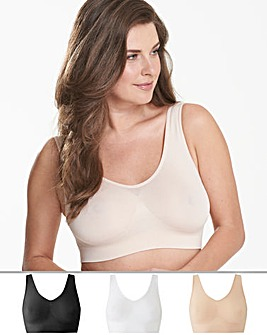3Pack Black/White/Blush Comfort Tops